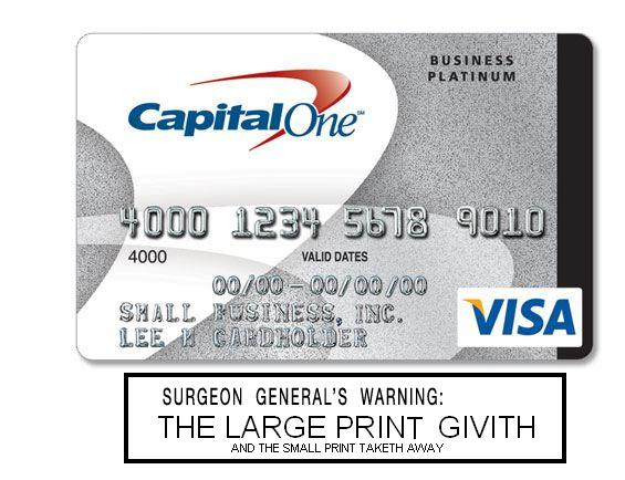 SURGEON GENERAL'S WARNING: CREDIT CARDS