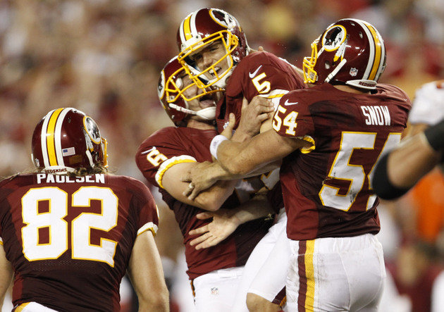 Redskins Snarf Bucs in Tampa Bay
