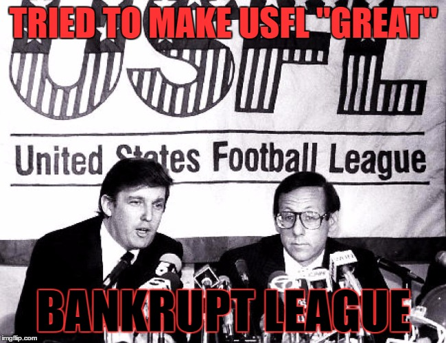 Drumpf Drives USFL into Ground